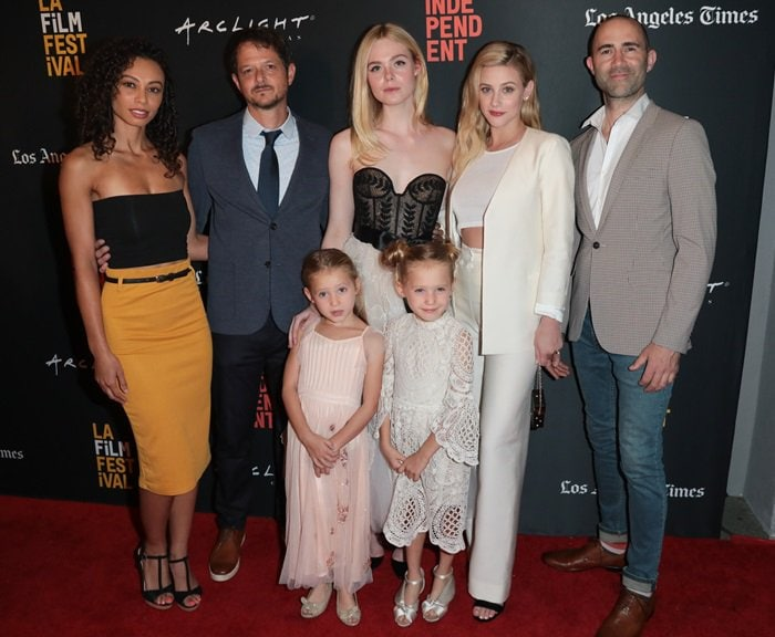 Heidi Lewandowski, Tyler Davidson, Anniston Price, Elle Fanning, Tinsley Price, Lili Reinhart, and Christopher Amitrano
