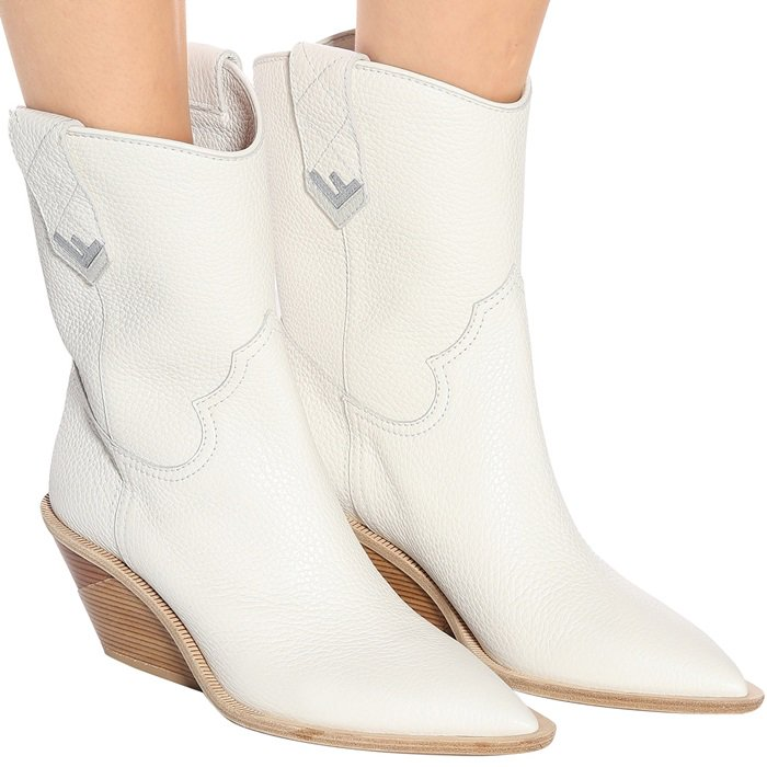 Fendi's white cowboy boots make for an essential new-season update