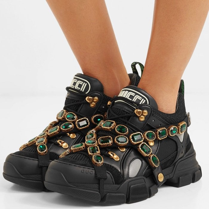 59be8290d23 Gucci s SEGA-Inspired Flashtrek Sneakers Draped With Crystal Straps