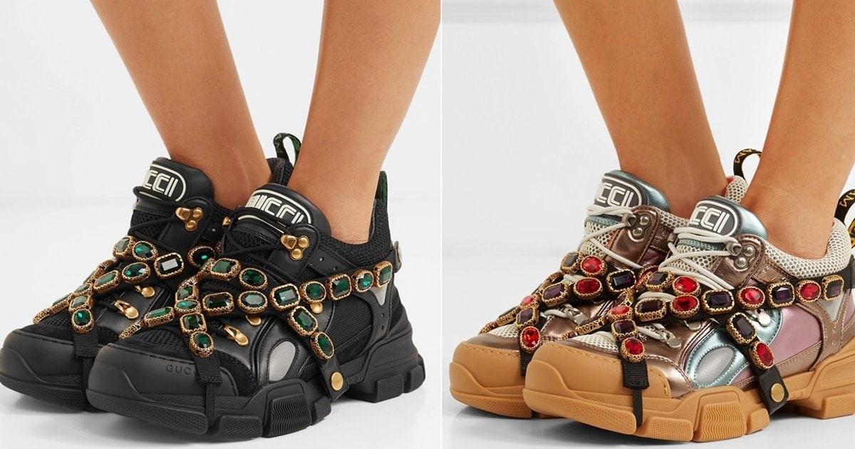 46ebcc6328099 Gucci s SEGA-Inspired Flashtrek Sneakers Draped With Crystal Straps