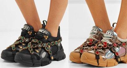 13e53130eb7 Gucci s SEGA-Inspired Flashtrek Sneakers Draped With Crystal Straps