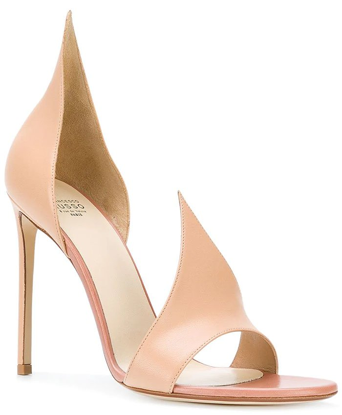 Francesco Russo 'Flame' sandals beige leather