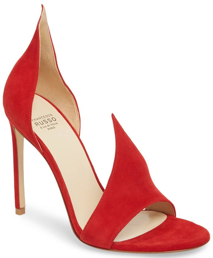 Francesco Russo 'Flame' sandals red suede