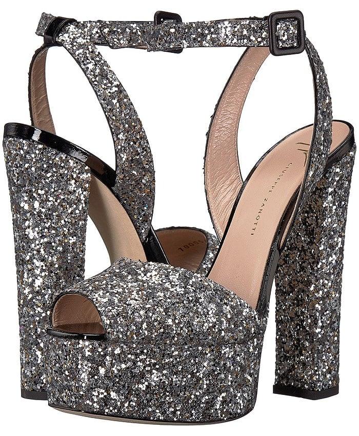 Giuseppe Zanotti Glitter Platform Sandals