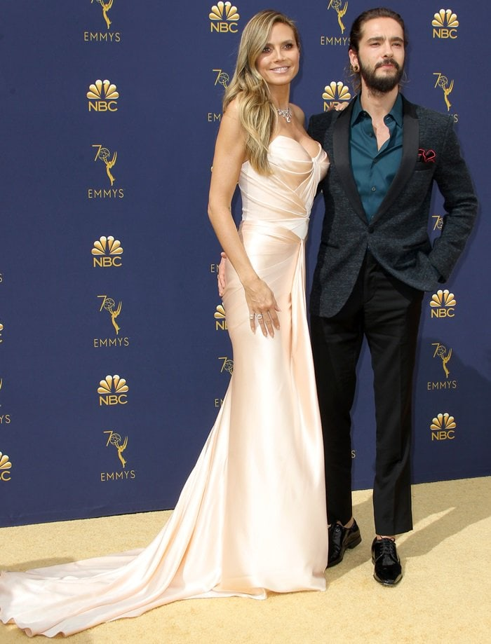 Heidi Klum and Tom Kaulitz at the 2018 Emmy Awards held at the Microsoft Theater in Los Angeles on September 17, 2018