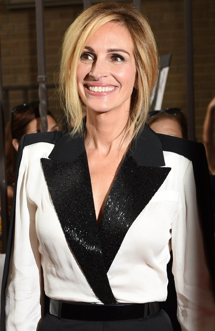 Julia Roberts looked stunning at the premiere of her series 'Homecoming' at Ryerson Theatre in Toronto, Canada, on September 7, 2018