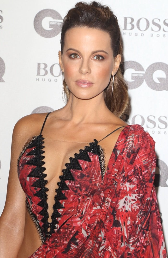 Vulgar Kate Beckinsale Goes Nearly Naked at GQ Men of the