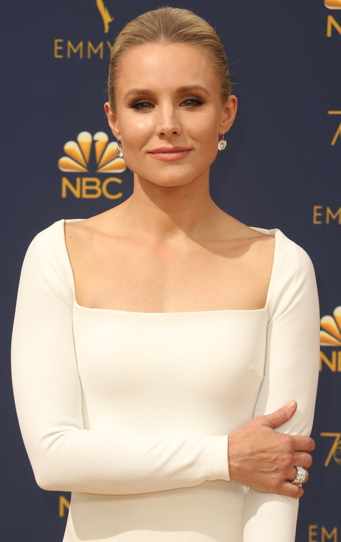 Kristen Bell was white hot for the 2018 Emmy Awards held at the Microsoft Theater in Los Angeles on September 17, 2018