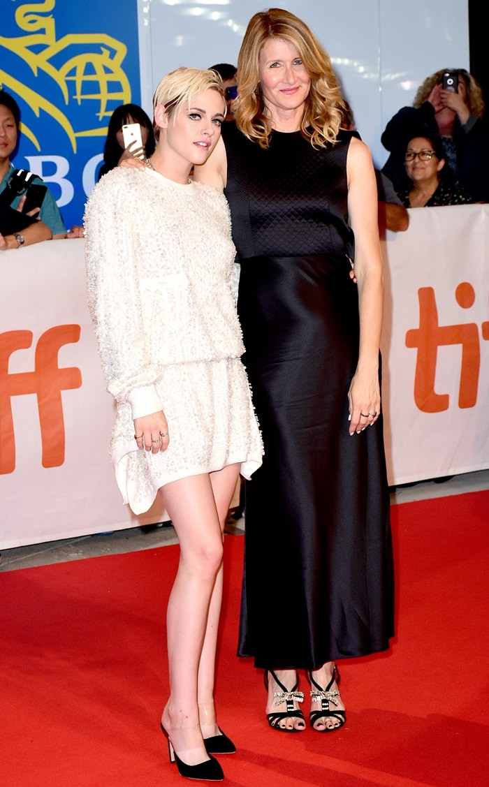 Kristen Stewart and Laura Dern at the premiere of Jeremiah Terminator LeRoy at the 2018 Toronto International Film Festival at Roy Thomson Hall in Toronto, Canada, on September 15, 2018