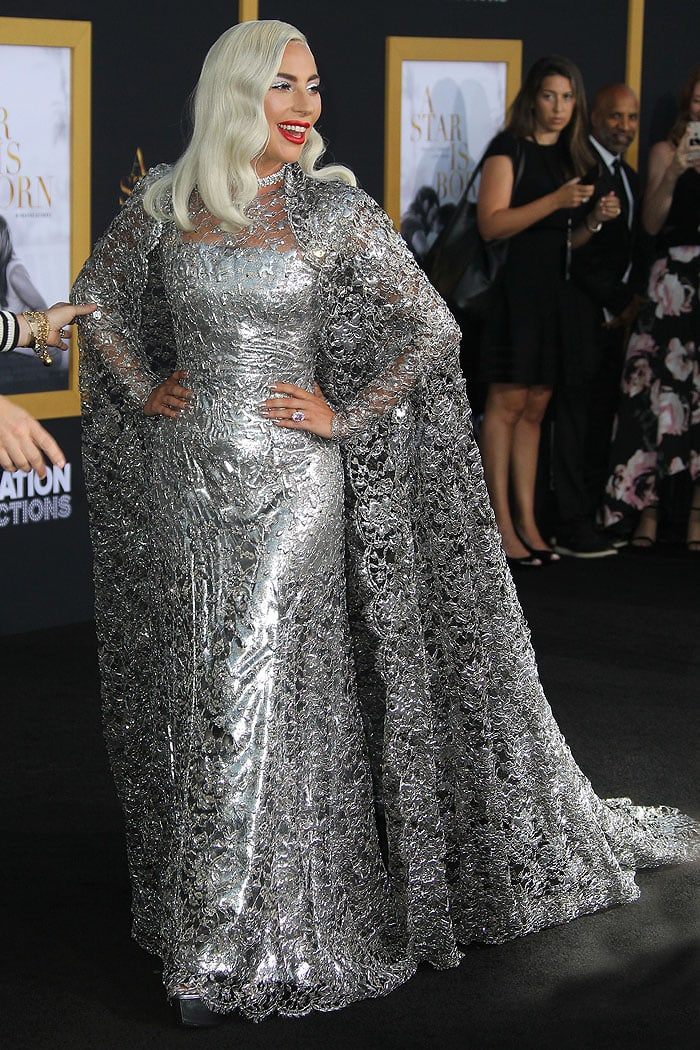 """Lady Gaga at the """"A Star Is Born"""" LA premiere on September 24, 2018."""