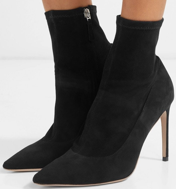 Lorena Stretch-Suede Sock Boots