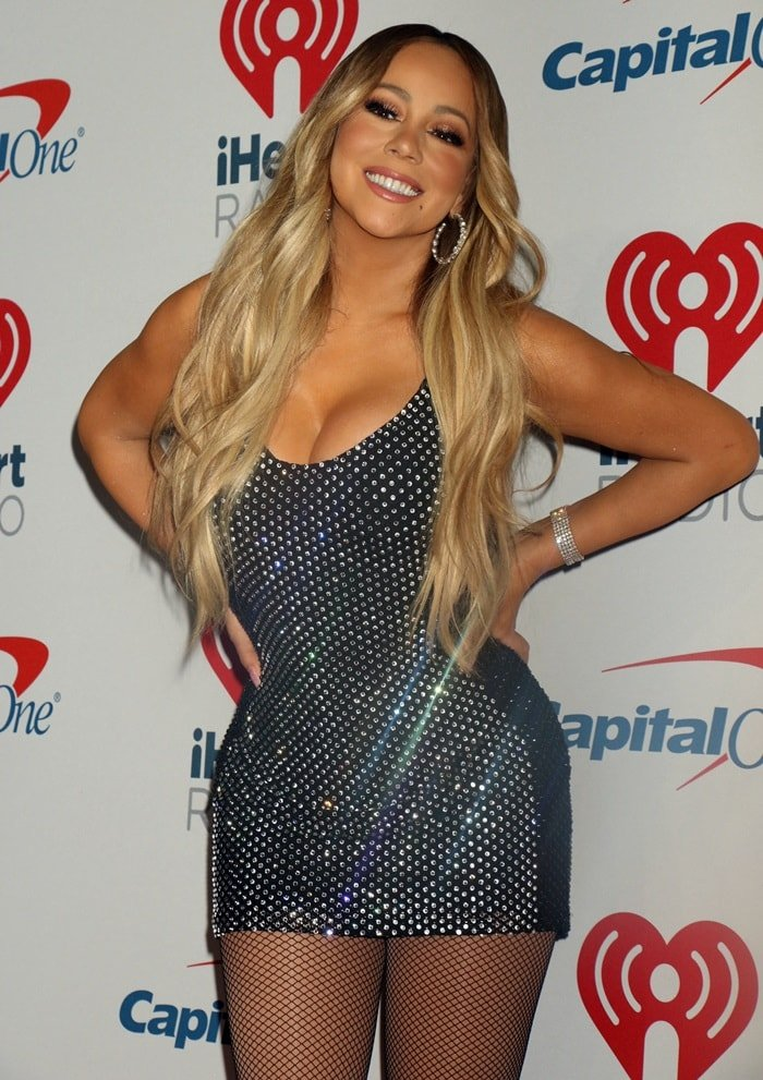 Mariah Carey looks amazing in the press room at the 2018 iHeartRadio Music Festival at the T-Mobile Arena in Las Vegas on September 21, 2018