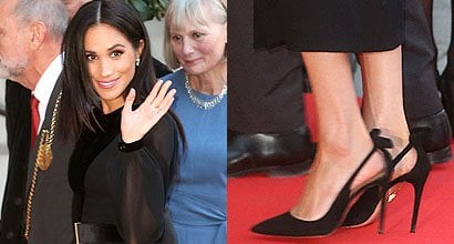 68ce1a5a9f8 Meghan Markle Wears Favorite Aquazzura Deneuve Pumps for First Solo Outing