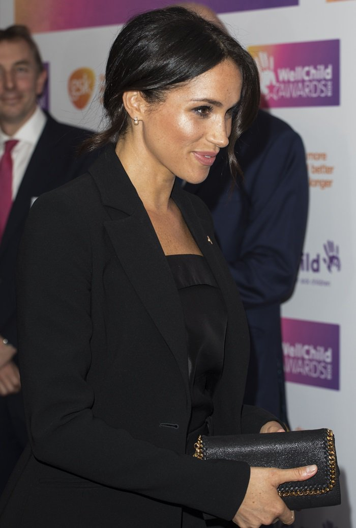 "Meghan Markle's black ""Acacia"" solid stretch-crepe blazer"