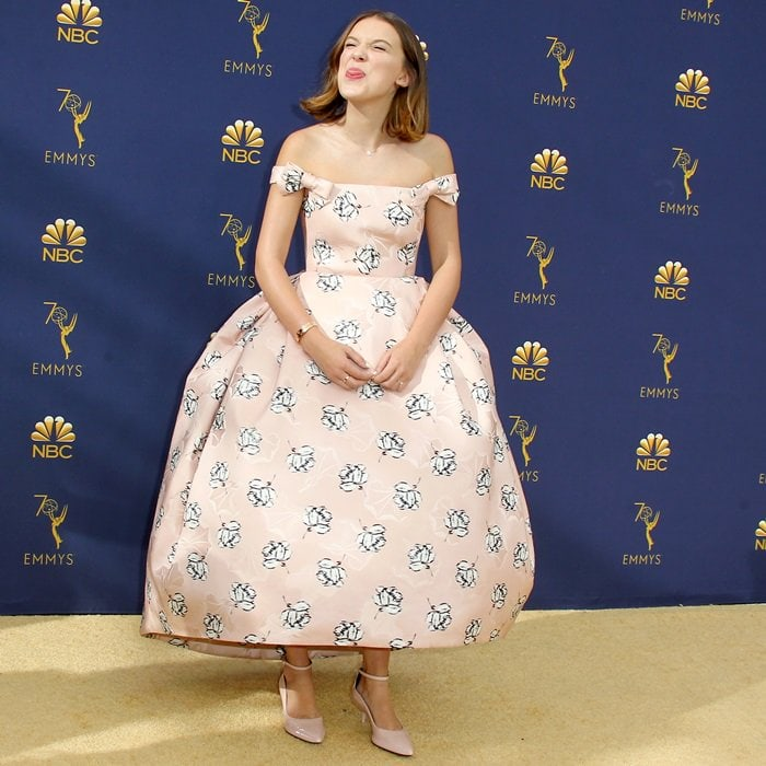Millie Bobby Brown was all dolled up for the 2018 Emmy Awards held at the Microsoft Theater in Los Angeles on September 17, 2018