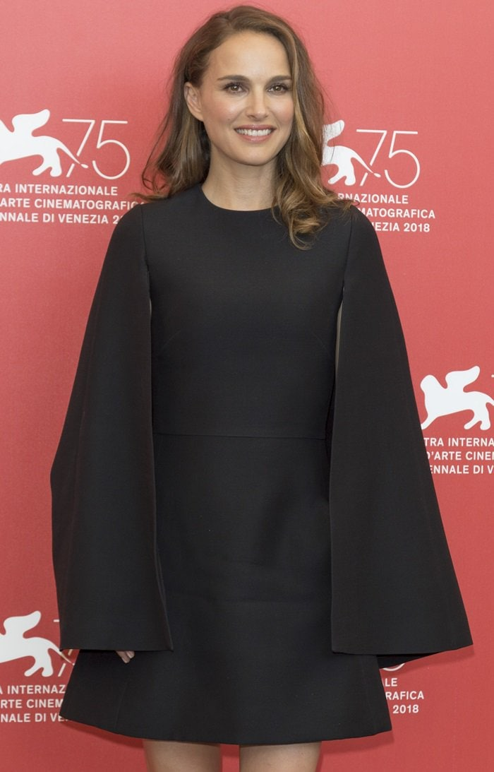 Natalie Portman looking simply stunning at a photocall for her film Vox Luxe in Venice, Italy, on September 4, 2018