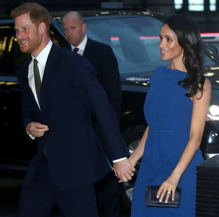 Meghan Markle's Admiral Blue Portrait Of Lady Sling Pumps