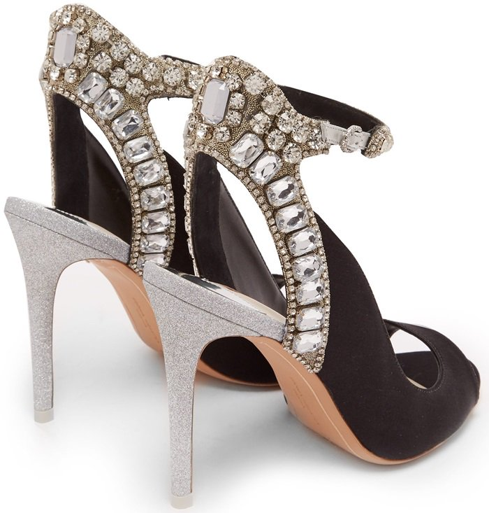 Lorena Crystal-Embellished Heels