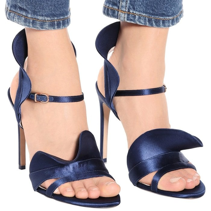 Adopt a vibrant finish with Sophia Webster's Lucia sandals, created in a deep navy colorway