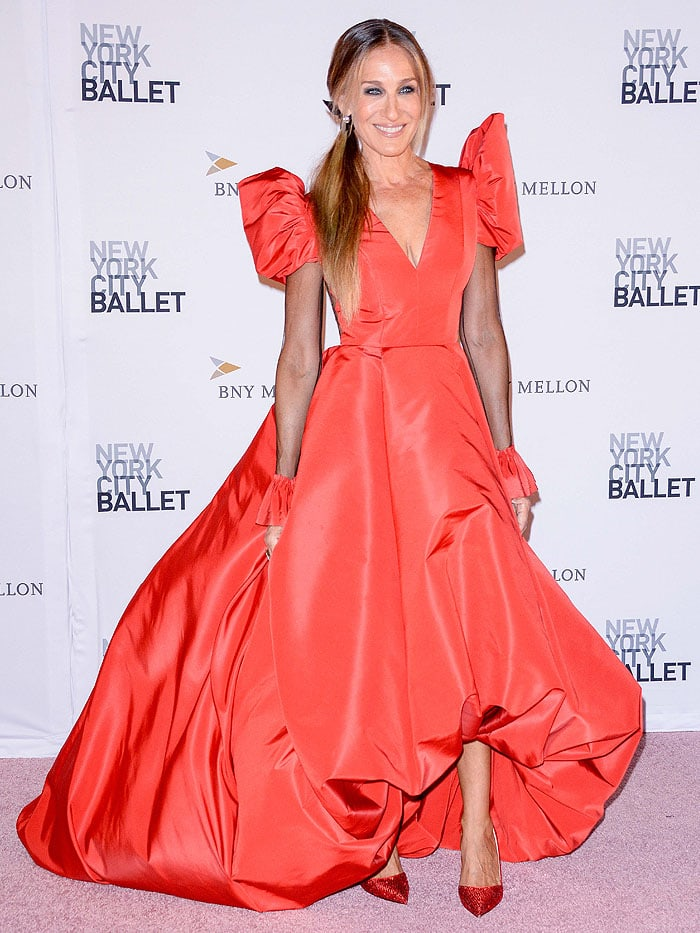 Sarah Jessica Parker at the 2018 New York City Ballet Fall Fashion Gala at David H. Koch Theater at Lincoln Center in New York City on September 27, 2018