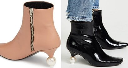 designer shoes with pearls