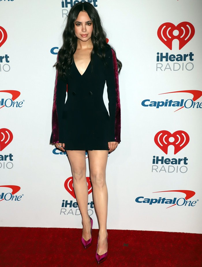 Sofia Carson flaunted her insane legs at day two of the 2018 iHeartRadio Music Festival in Las Vegas on September 22, 2018