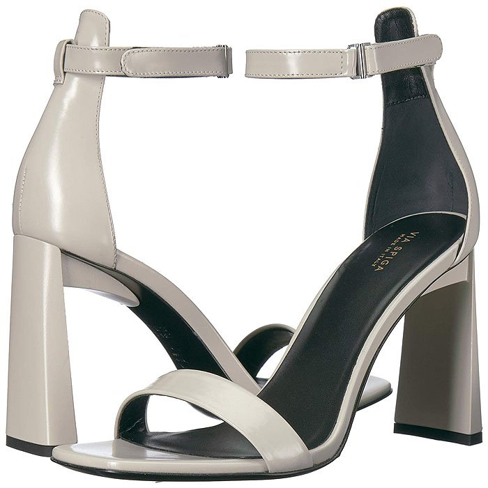 Via Spiga Faxon Angular-Heel Ankle-Strap Sandals