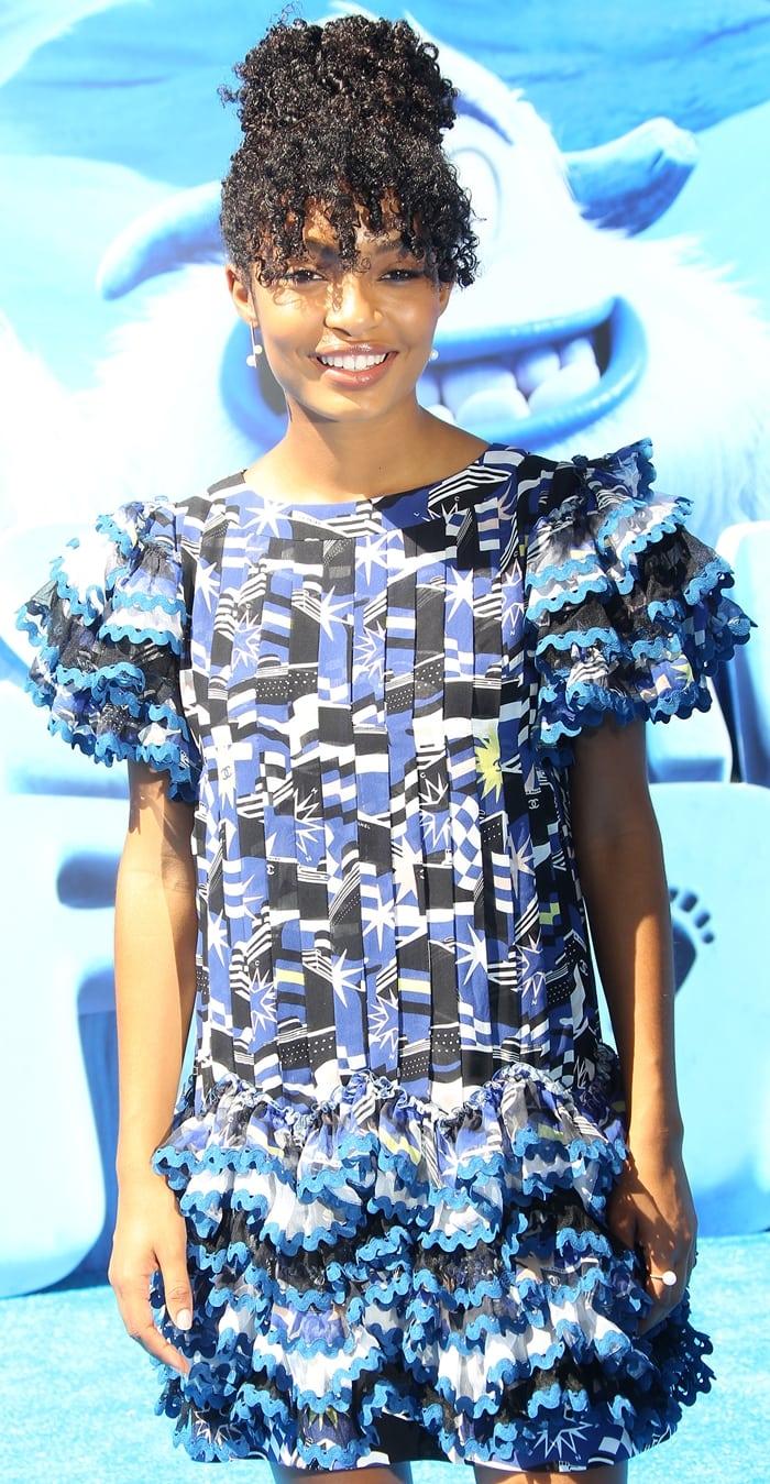 Yara Shahidilooked captivating ina Chanel Resort 2019 dress
