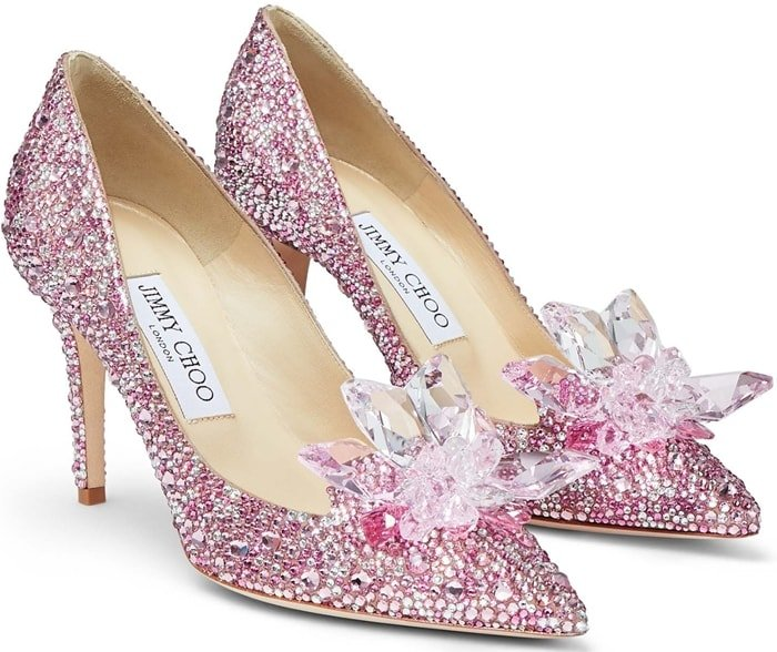 ALIA Rose Mix Suede and Crystal Covered Pointy Toe Pumps