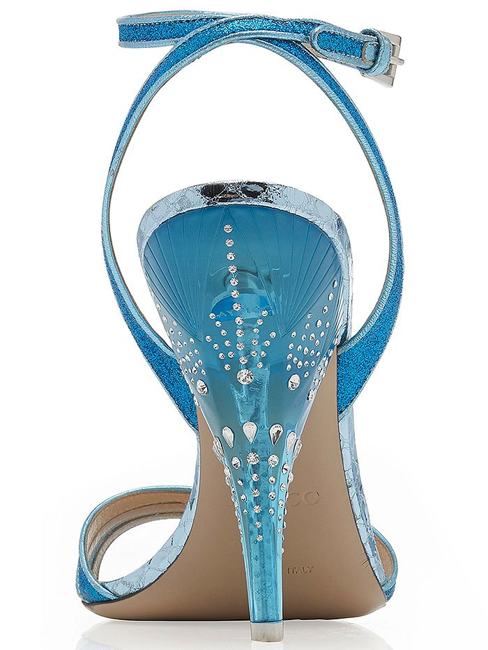 Attico Lola Crystal-Embellished-Heel Sandals