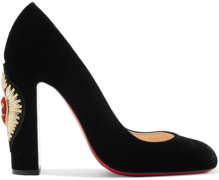 Cadrilla Corazon 110 crest-embroidered pumps