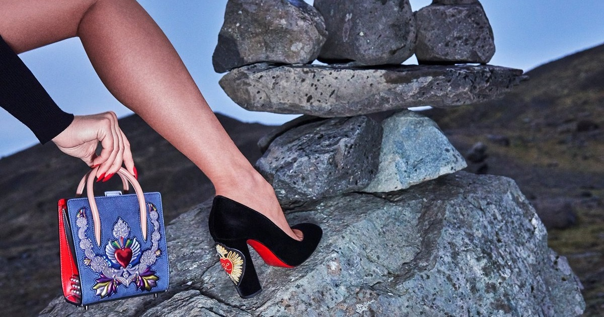 more photos 6638c a786f Gold, Silver, and Red Crest-Embroidered Cadrilla Corazon Pumps