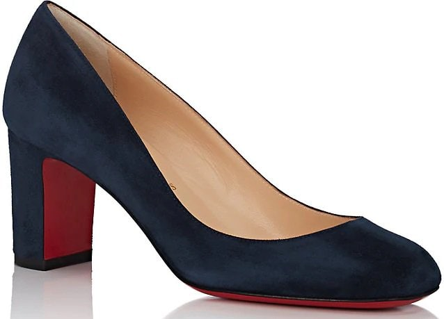 Cadrilla Navy Suede Pumps