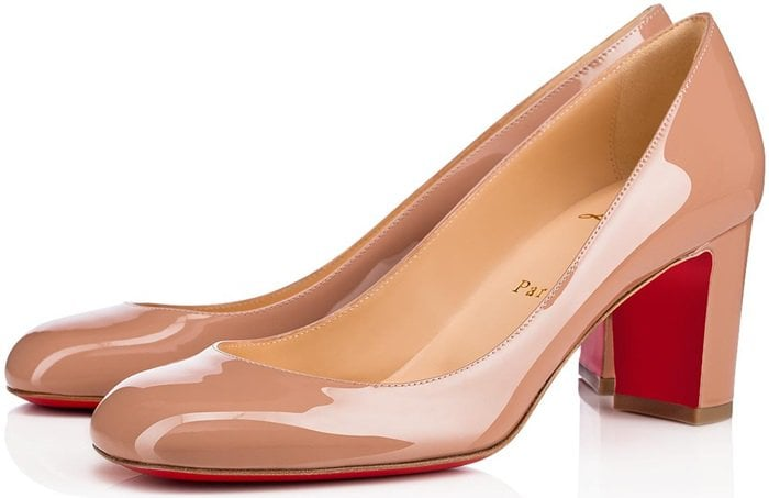 Cadrilla Nude Patent Leather Pumps