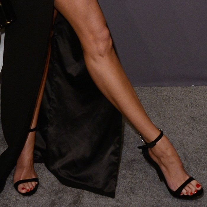 Candice Swanepoel's incredible legs at the 2019 amfAR New York Gala held at Cipriani Wall Street in New York City on February 6, 2019