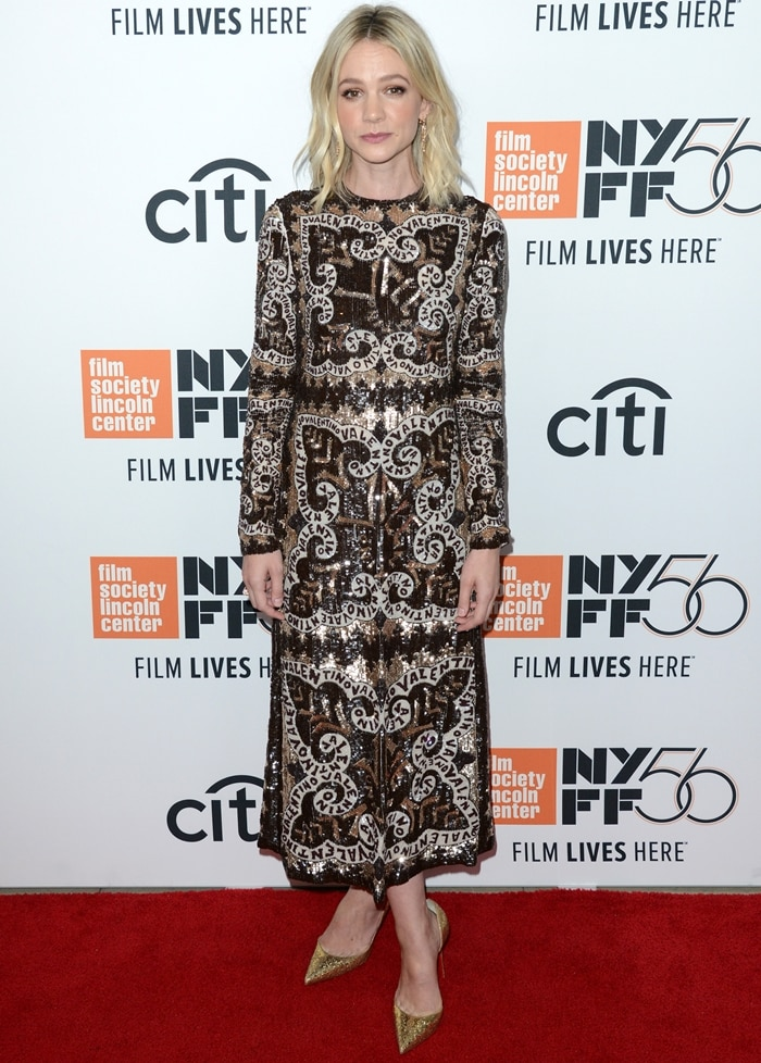 Carey Mulligan in attendance at the Wildlife premiere during the 2018 New York Film Festival at Alice Tully Hall at Lincoln Center in New York City on September 30, 2018