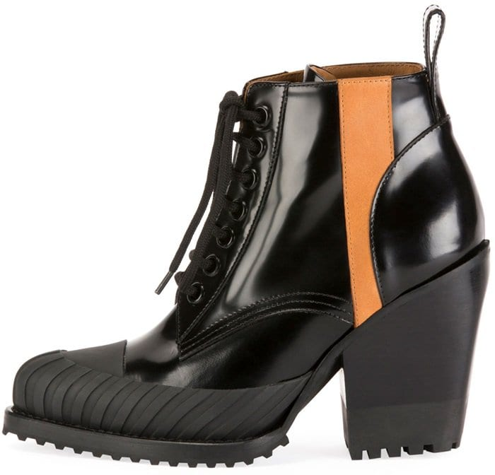 A contrasting orange band runs down the outer edge of this pair, adding to their graphic appeal