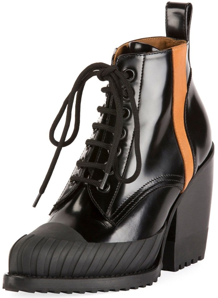 Chloé's cult classic Rylee ankle boots are updated with the tough-luxe effect this season