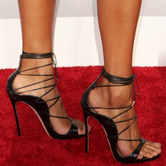 Ciara shows off her feet in showstopping Riri sandals