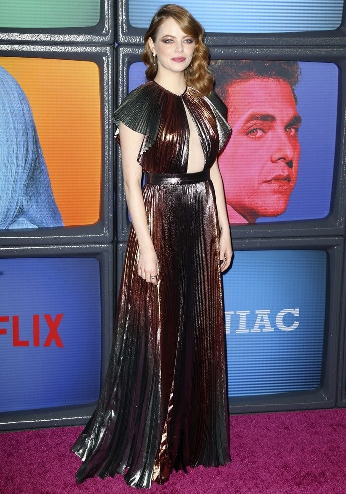 Emma Stone attending the season one premiere of Netflix's Maniac at Center 415 in New York City on September 20, 2018