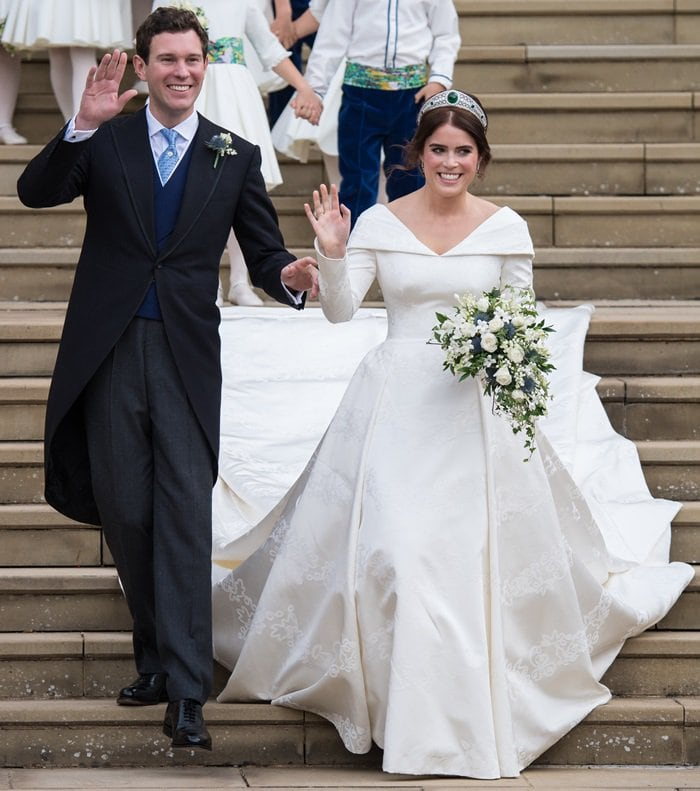 Princess Eugenie of York donned an elegant gown by Peter Pilotto and Christopher De Vos