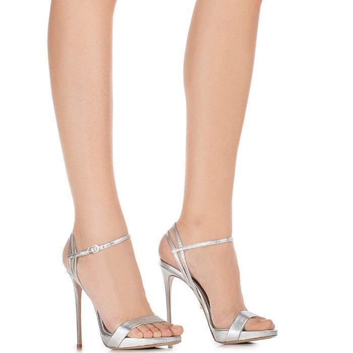 Silver Le Silla Gwen Sandals