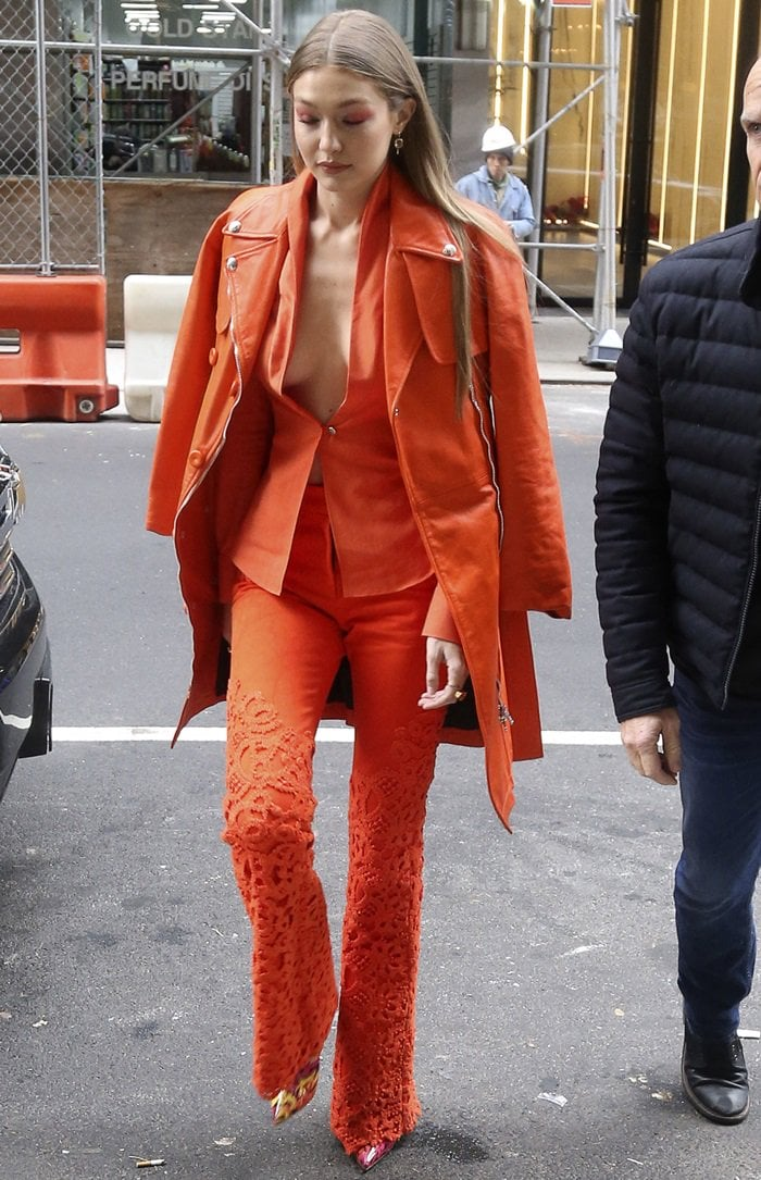 Gigi Hadid rocks So Kate Booty statement heels from Christian Louboutin's Spring 2019 collection