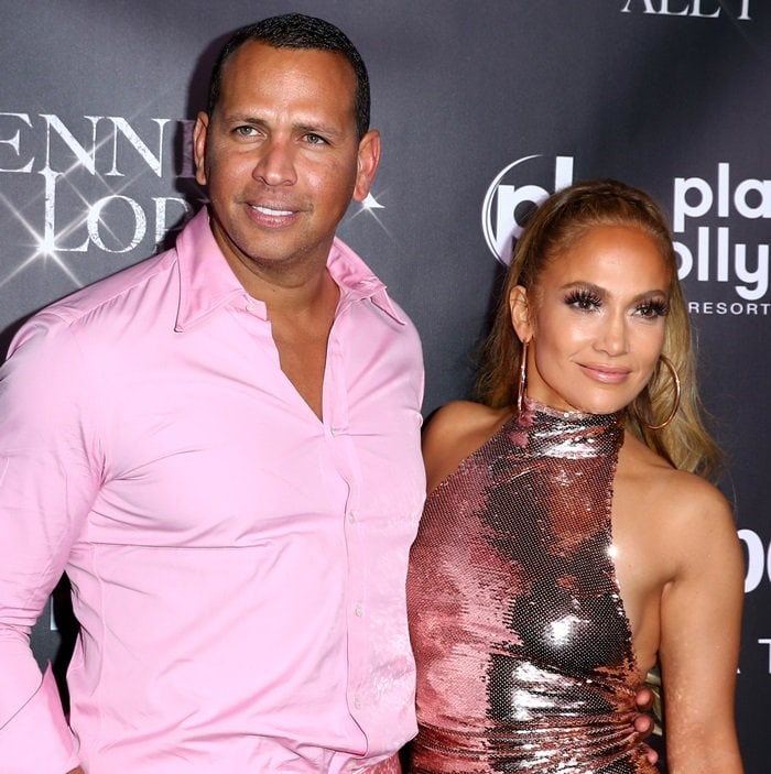 Alex Rodriguez and Jennifer Lopez attend the 'Jennifer Lopez: All I Have' Official Finale After Party at Mr Chow At Caesars Palace in Las Vegas on September 29, 2018