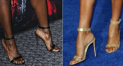 7435a6e1d63 Sexy Celebrity Feet in Jonatina PVC Sandals by Louboutin