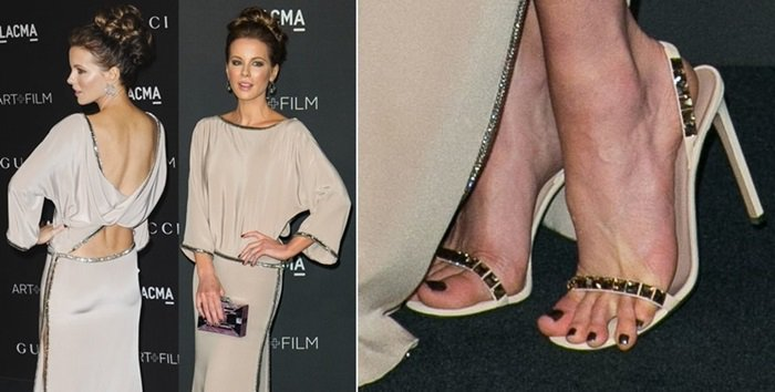 Kate Beckinsale's toes tried to run away at the at the 2014 LACMA Art + Film Gala