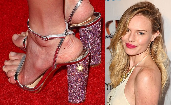 Kate Bosworth showed that she needs to take better care of her cracked, dry feet