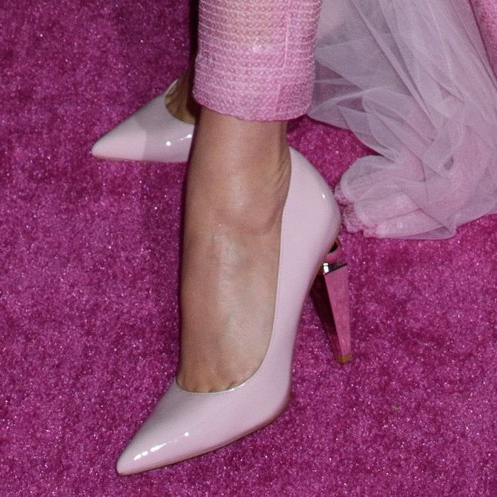 Katy Perry's pretty feet in sculptural statement Memphis shoes