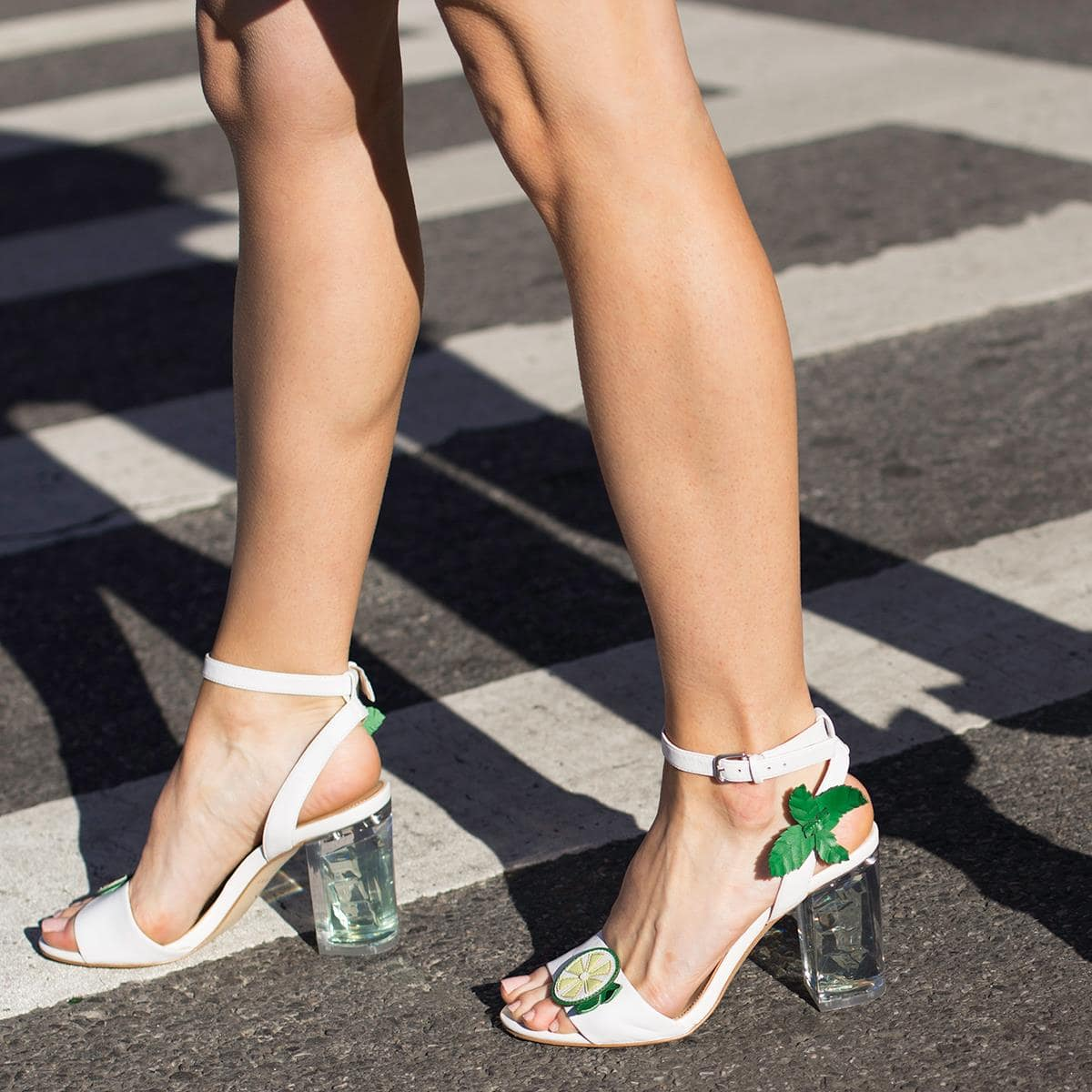 Mojito-inspired, these strappy sandals bring happy hour to a whole new level