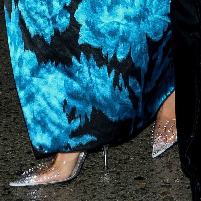 Lady Gaga's transparent pumps by Spanish footwear brand Magrit